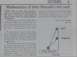 wiskunde voetbal
